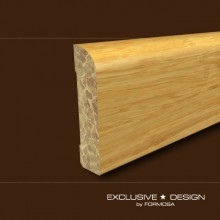 Bamboo skirting boards H52 honey