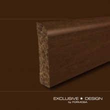 Bamboo skirting boards H52 chocolate