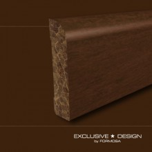 Bamboo skirting boards H78 chocolate