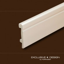 Polystyrene skirting boards H80 white