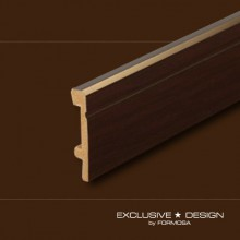 Polystyrene skirting boards H80 wenge