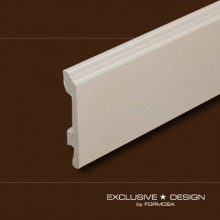 Polystyrene skirting boards H98 white