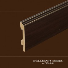 Polystyrene skirting boards H98 wenge